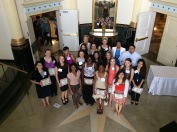 TWU FSA Scholars in the foyer of Hubbard Hall at a September 27, 2014 reception in their honor.