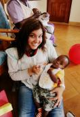 Volunteering at an orphanage