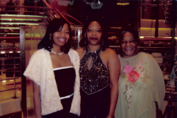 Aaron's sister, mother and grandmother.